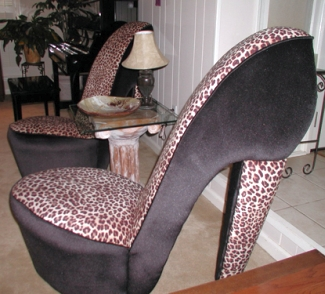 High_heel_leopard_skin_chair